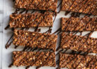 No Bake Chewy Dark Chocolate Granola Bars - Fork Knife Swoon