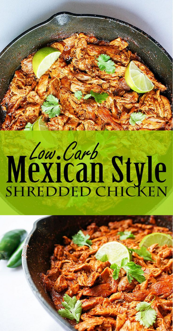 No crock pot, no problem. Mexican Shredded Chicken - Keto ...