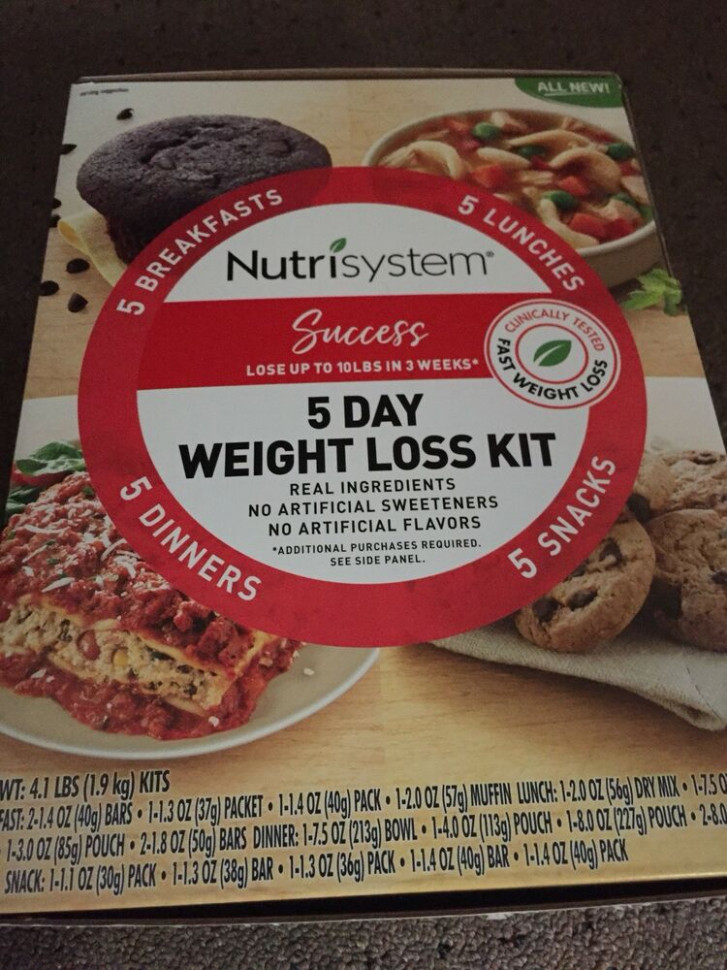 Nutrisystem 5 day weight loss kit Jumpstart 20 meals ...