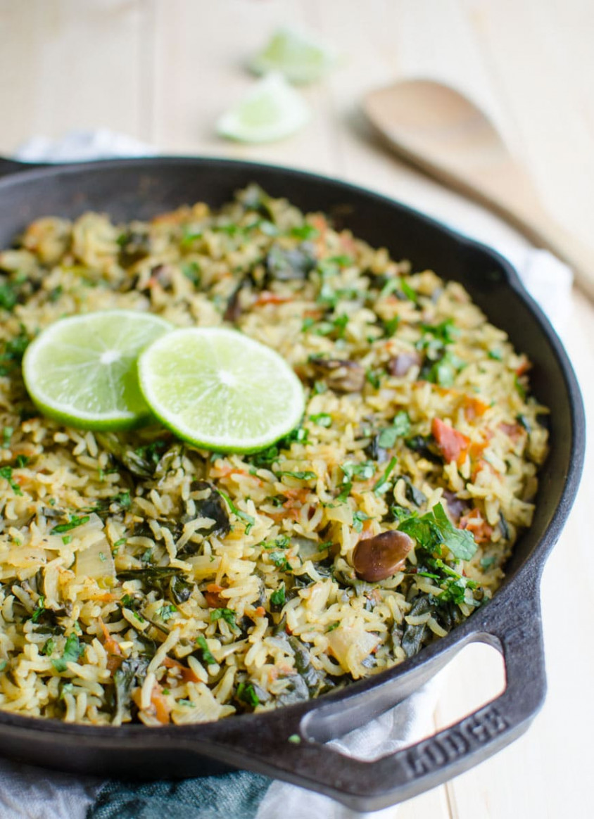 Nutritious And Delicious One Pot Spinach Rice (Video …