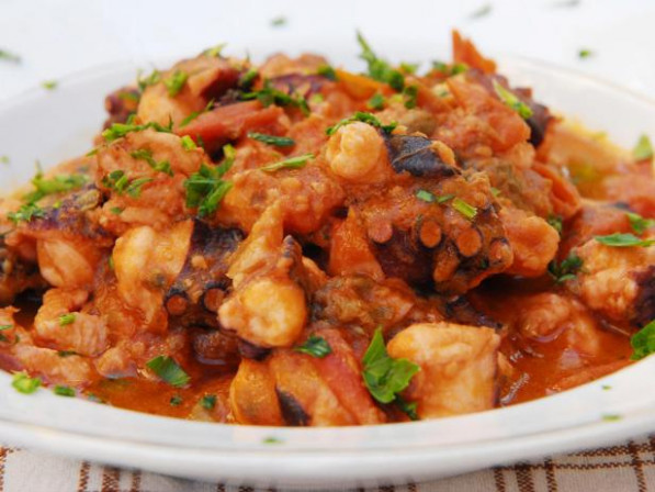 Octopus in Tomato Sauce : Recipes : Cooking Channel Recipe ...