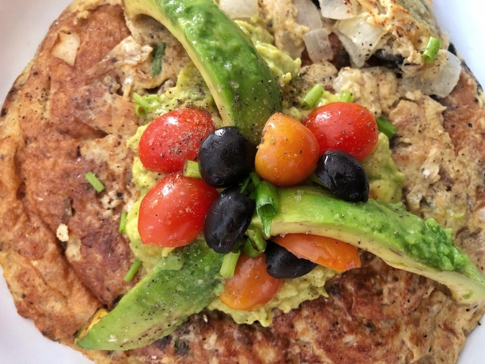 Omelette With Canned Sardines And Avocado For Healthy Keto Pescatarian  Breakfast