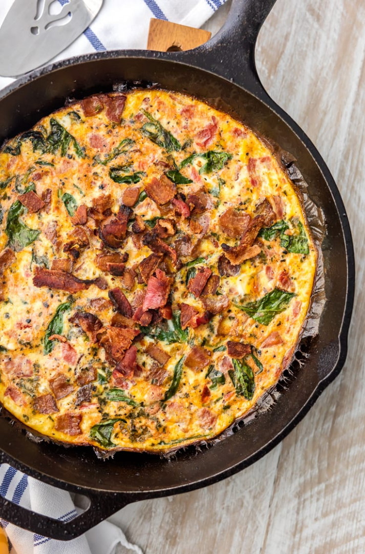 One Pan BLT Skillet Frittata – The Cookie Rookie