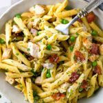 One Pan Chicken Carbonara With Penne Pasta – Jessica Gavin