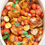 One Pan Paprika Chicken With Potatoes And Tomatoes