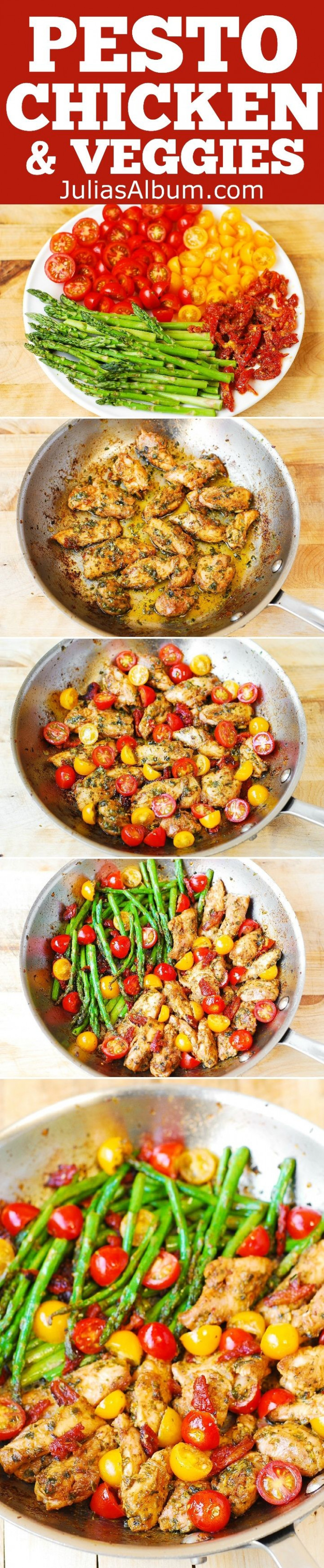 One-Pan Pesto Chicken and Veggies – sun-dried tomatoes ...