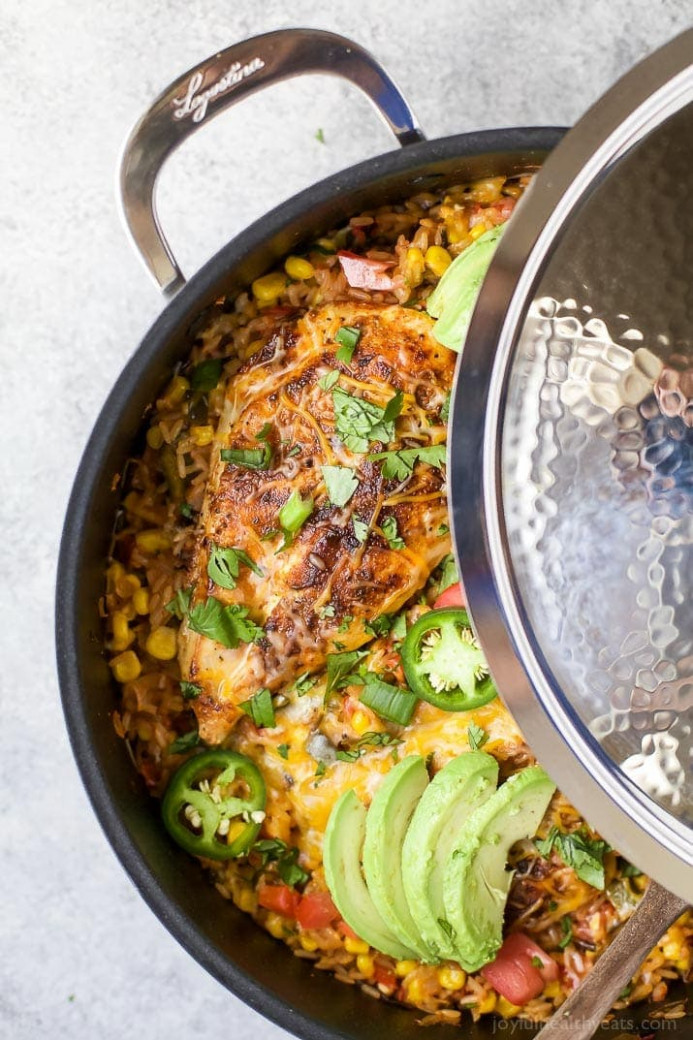 One Pan Southwestern Chicken and Rice | Easy Healthy ...