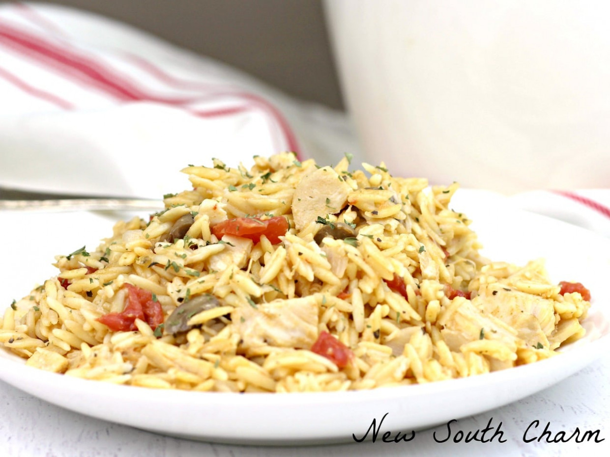 One Pot Creamy Chicken Orzo - New South Charm