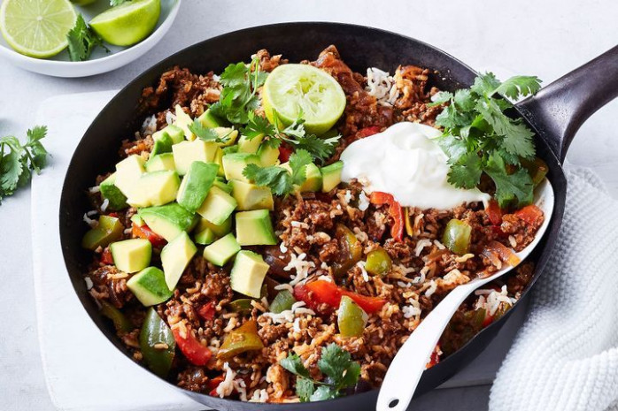 One-pot healthy Mexican beef mince