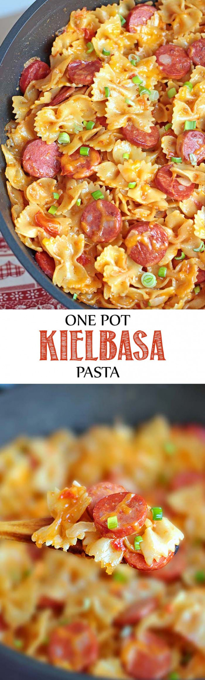 One Pot Kielbasa Pasta - Sugar Apron