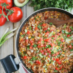 One Pot Mexican Rice Skillet Dinner – Two Healthy Kitchens