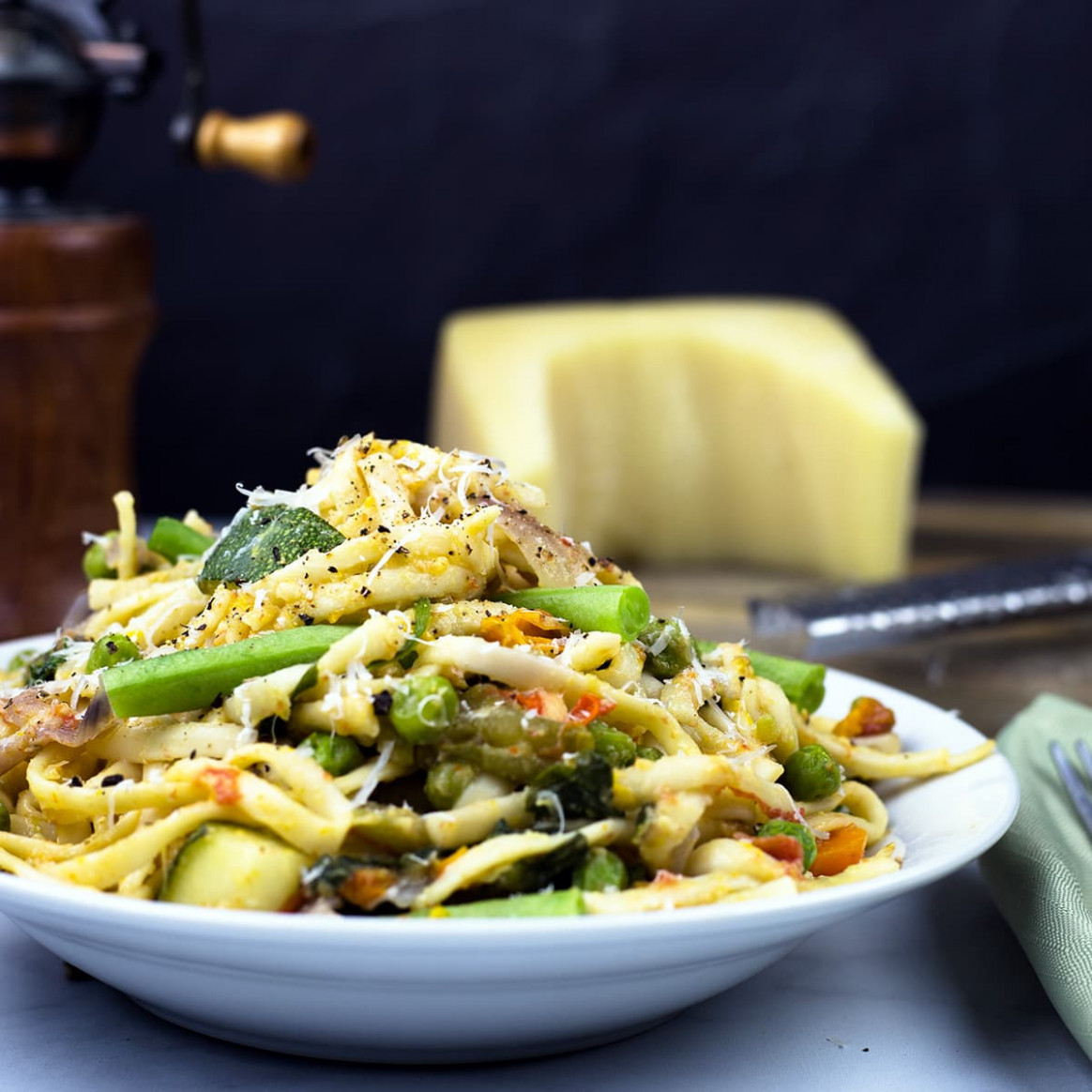 One-Pot Pasta Primavera ~ Ninja Foodi Recipe