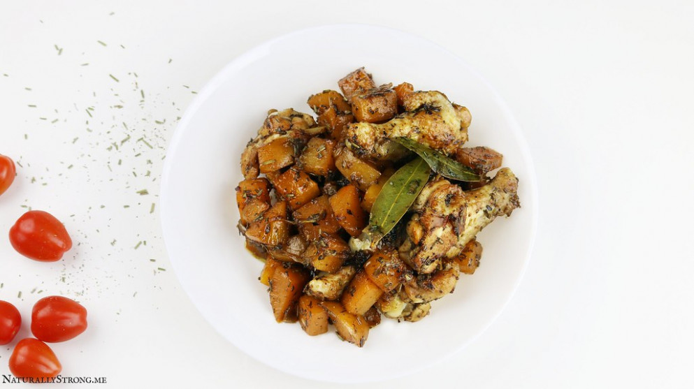 """One-Pot Quick Chicken Stew with """"Fake"""" Potatoes"""
