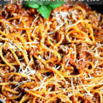 One Pot Spaghetti With Meat Sauce • Domestic Superhero