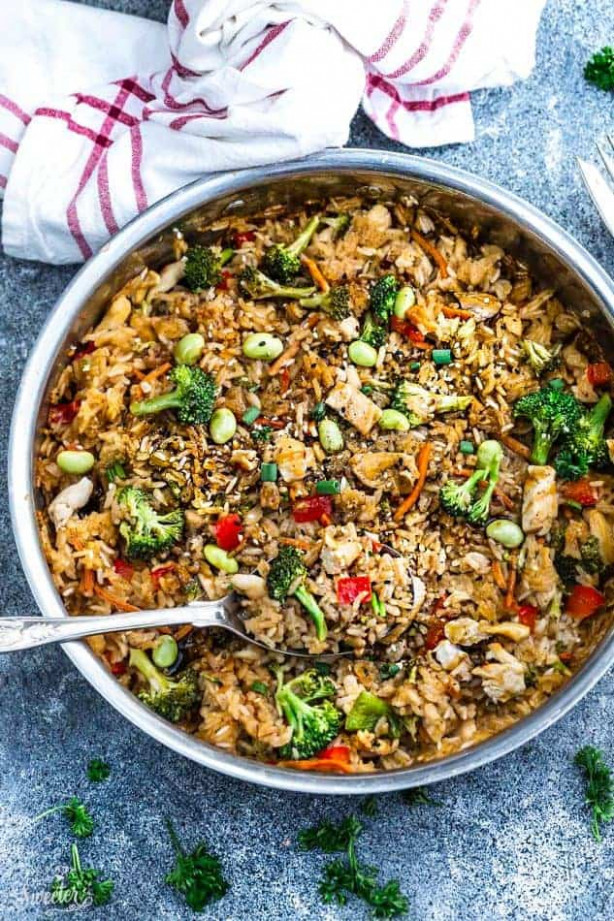 One Pot Teriyaki Rice With Chicken & Vegetables + Video …