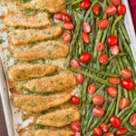 One Sheet Pan Roasted Garlic Parmesan Chicken Tenders And …