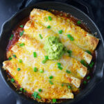 One Skillet Chicken Enchiladas Recipe | Kitchen Swagger