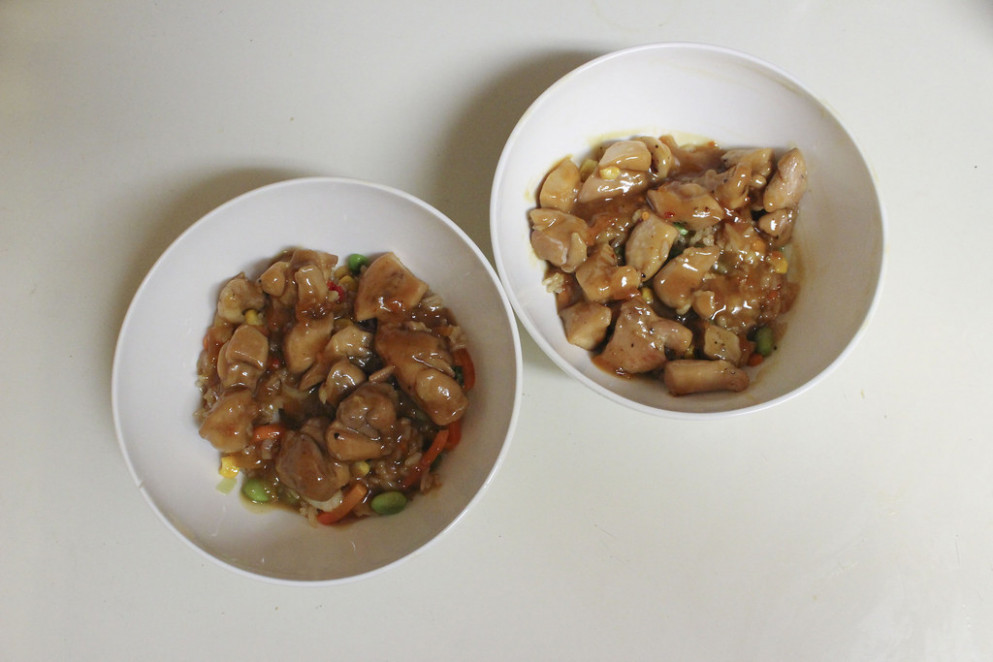 Orange chicken two servings