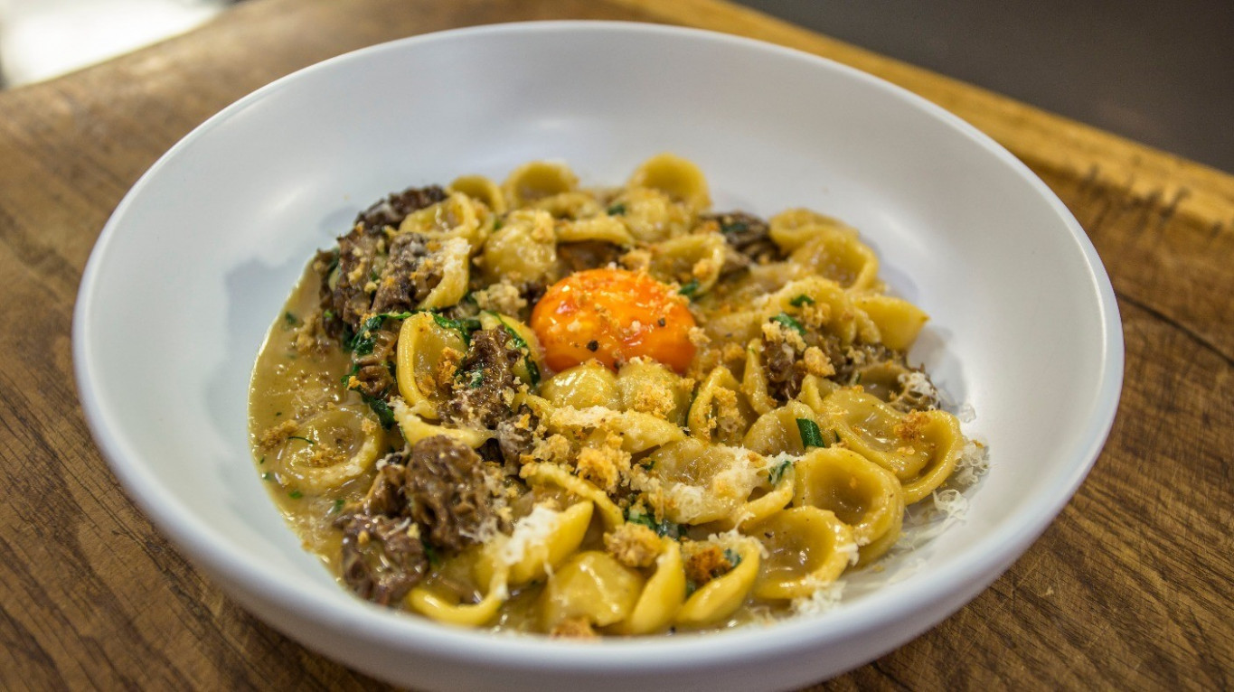Orecchiette, morels, egg yolk and tarragon | James Martin's ...