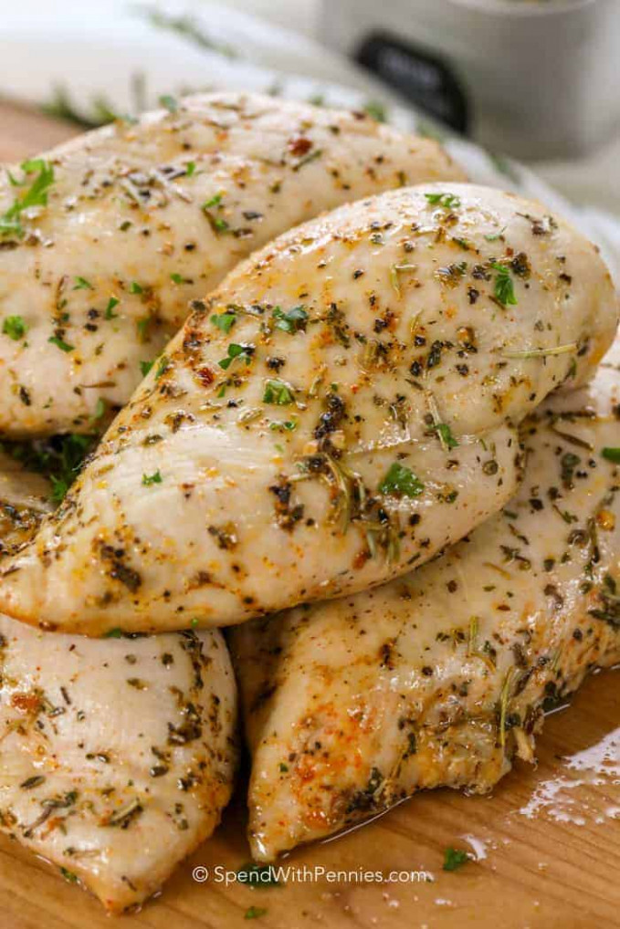 Oven Baked Chicken Breasts - Spend With Pennies
