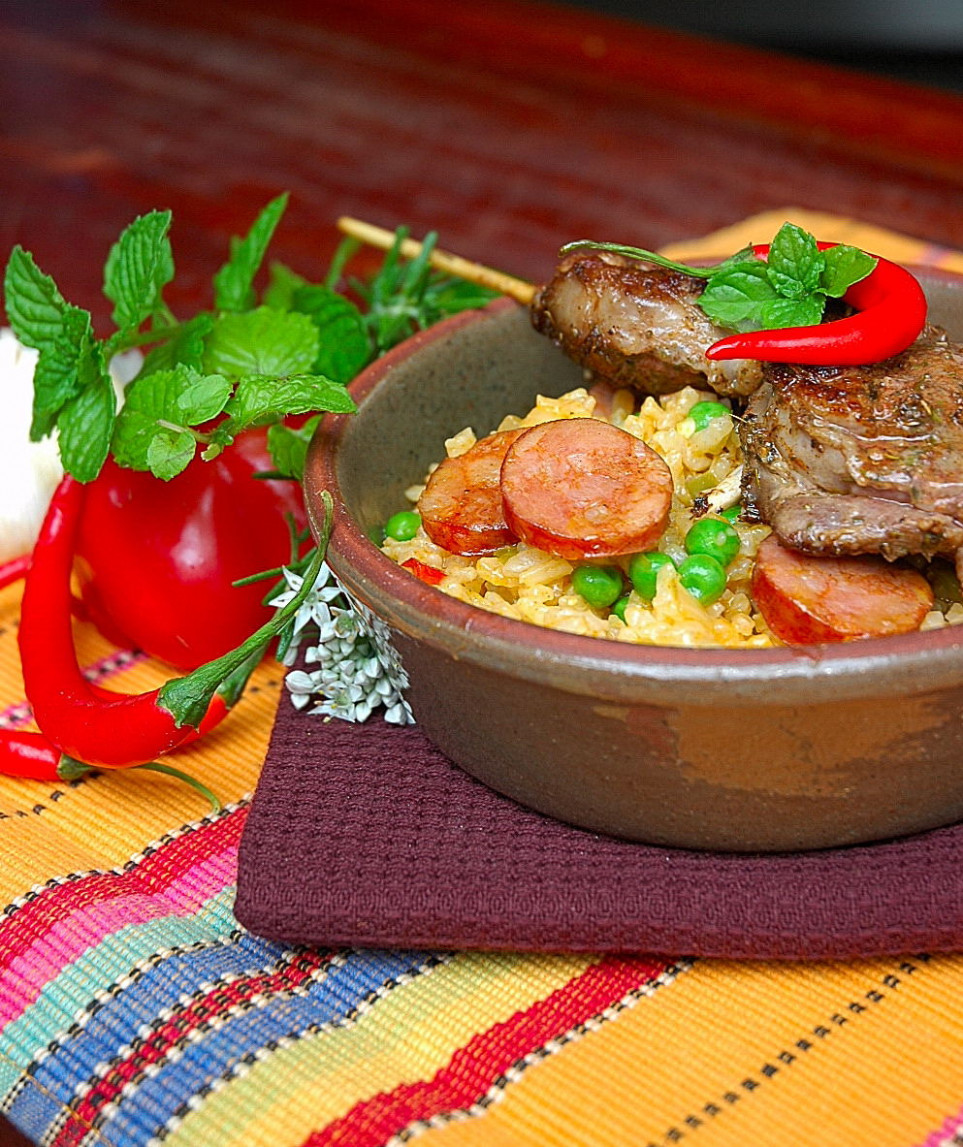 """Oven-baked Risotto with Lamb """"Espetada's"""" - My Easy Cooking"""