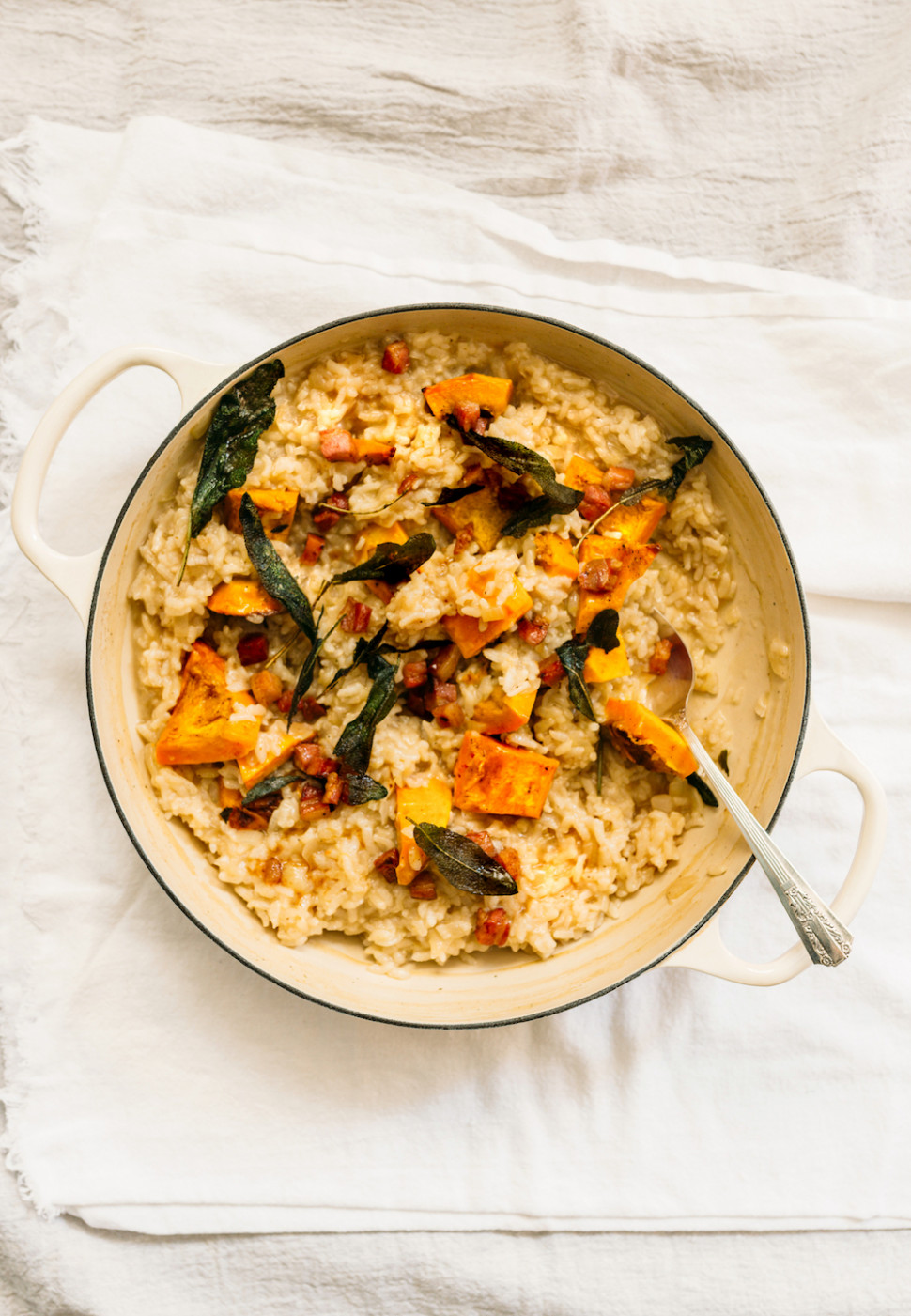 Oven-Baked Risotto with Squash, Sage, and Pancetta Recipe