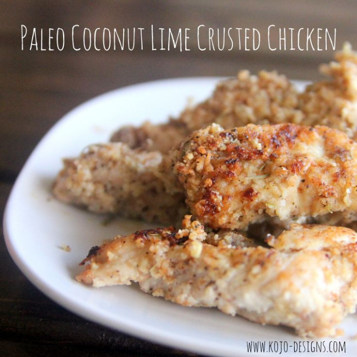 paleo coconut limed crusted chicken recipe- whole 30 ...