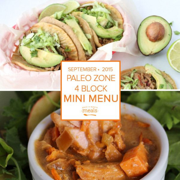 Paleo Zone 4 Block Mini Menu | Once a Month Meals ...