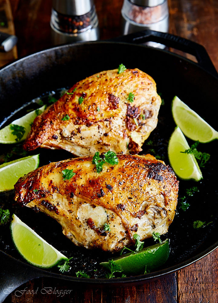 Pan-Seared Oven Baked Chicken Breast Recipe - i FOOD Blogger