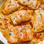 Pan Seared Salmon With Sun Dried Tomato Cream Sauce …