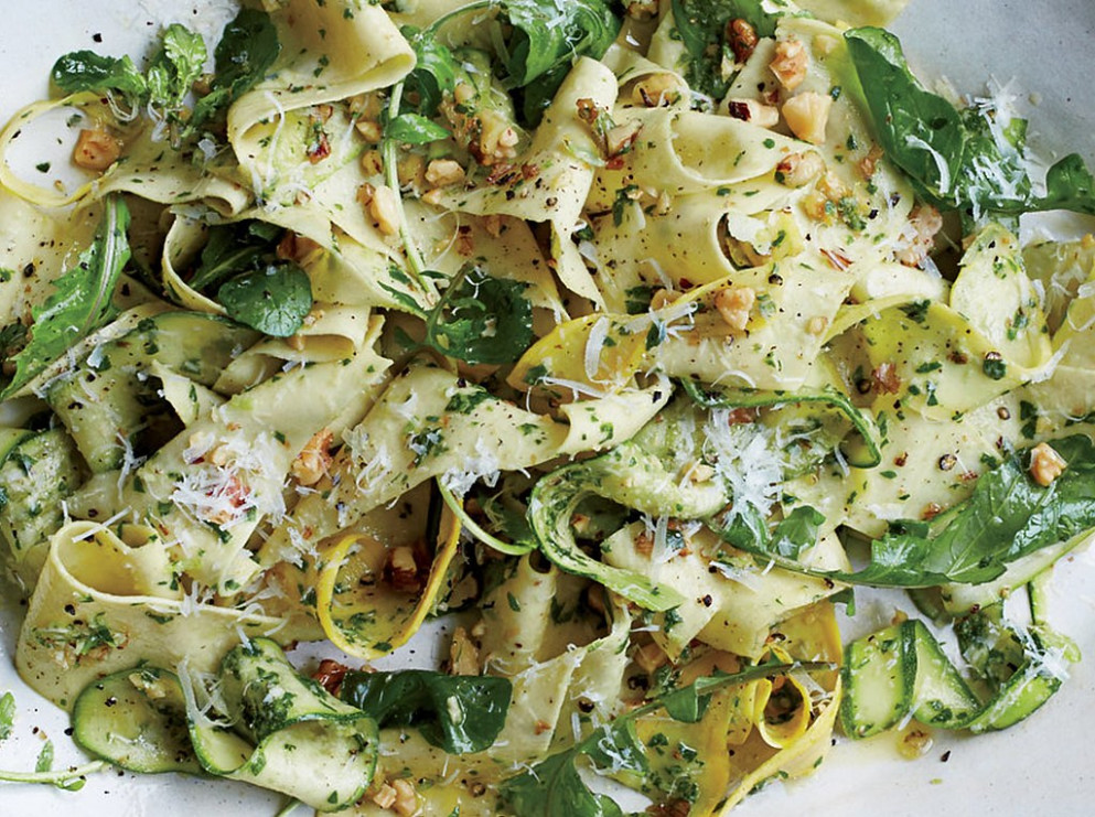 Pappardelle with Summer Squash and Arugula-Walnit Pesto.v1 (1)