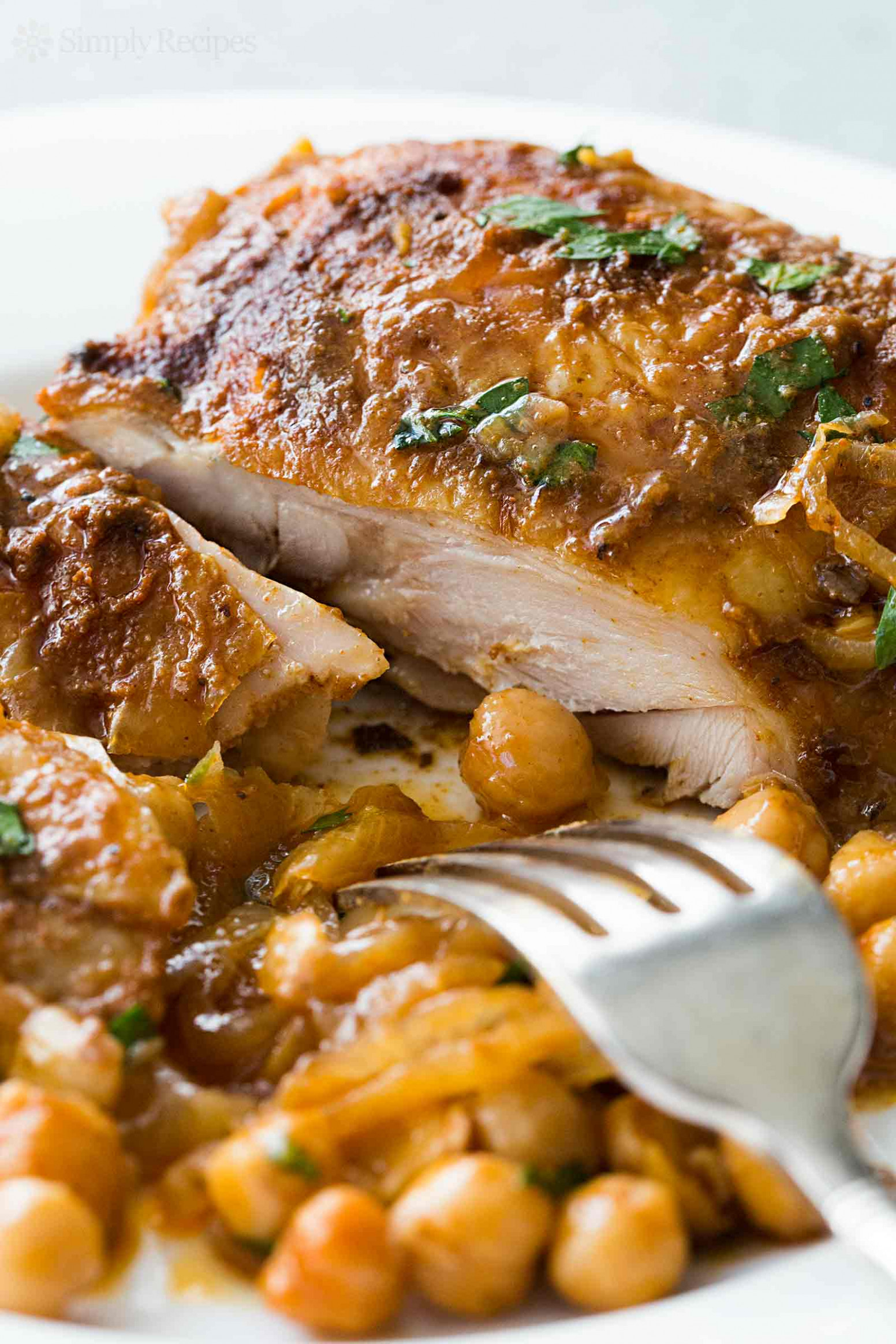 Paprika Chicken with Chickpeas Recipe | SimplyRecipes