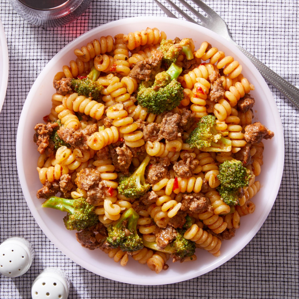 Pasta & Beef Ragù with Broccoli