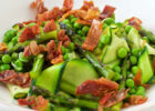 """Pasta"" Primavera with Asparagus, Peas and Prosciutto"
