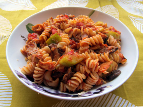 Pasta Recipe With Shredded Chicken Breast, Shiitake ...