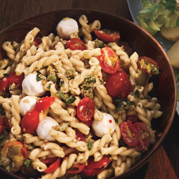 Pasta Salad with Cherry Tomatoes and Green Olivada recipe ...