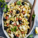 Pasta Salad With Homemade Italian Dressing | Brown Eyed Baker