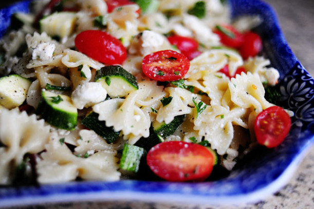 Pasta Salad with Tomatoes, Zucchini, and Feta | The ...