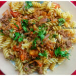 Pasta Tossed With Minced Meat – Sheena's Kitchen