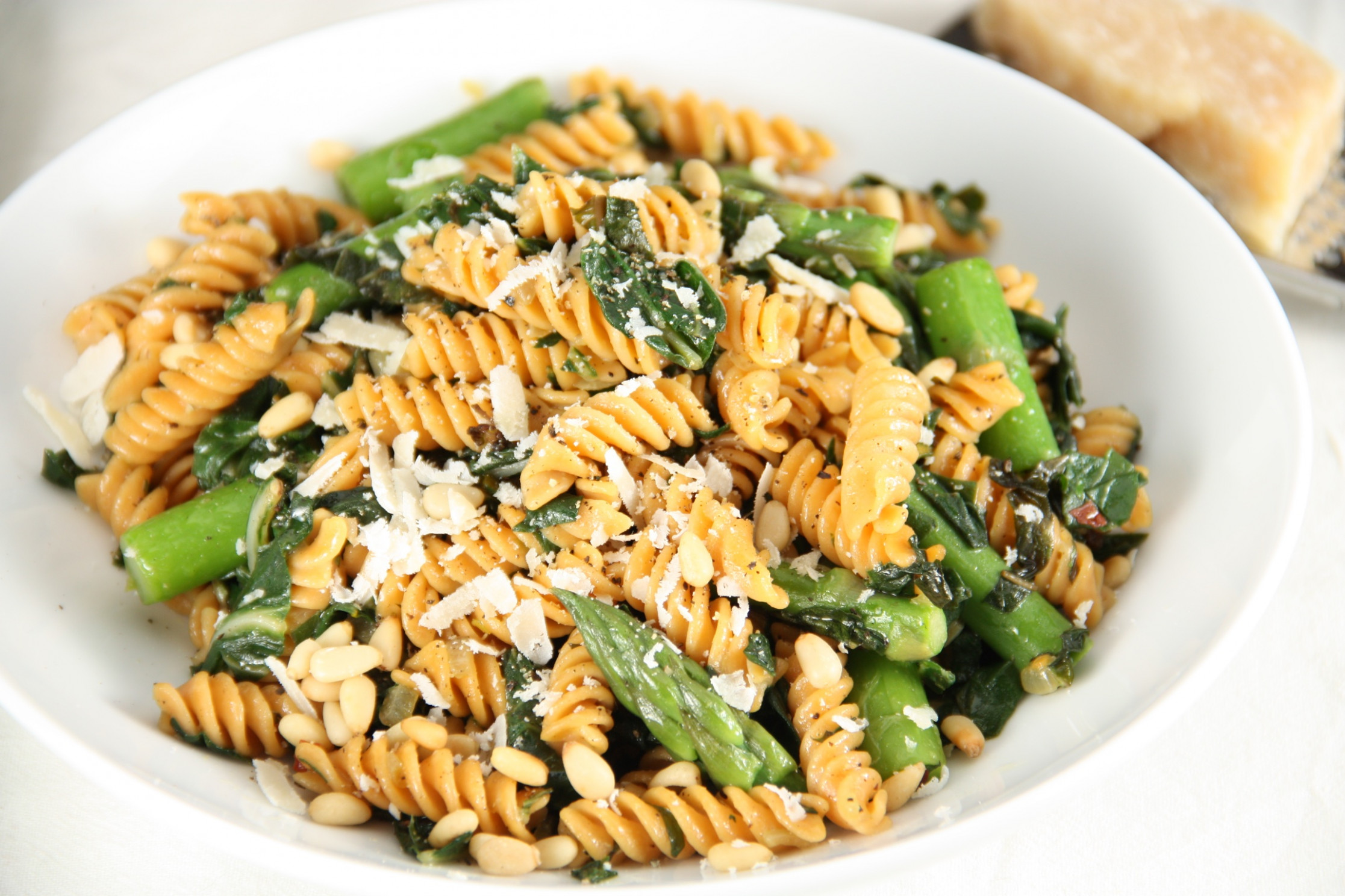 Pasta with Asparagus, Chard, and Pine Nuts Power Pasta ...