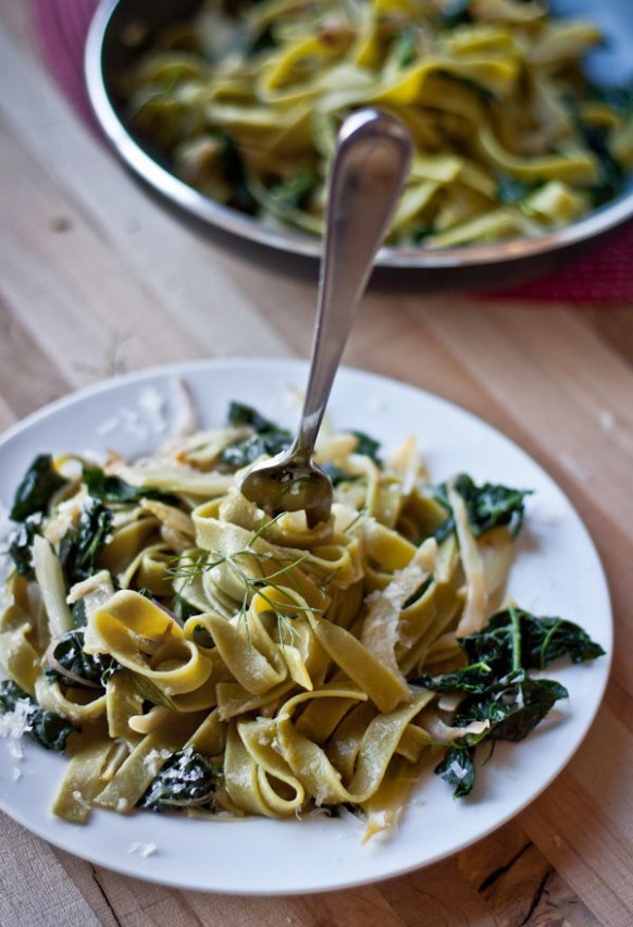 Pasta with Fennel, Kale, and Lemon | Recept | dishes ...