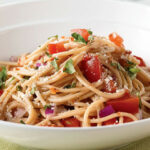 Pasta With Fresh No Cook Tomato Sauce Recipe — Dishmaps