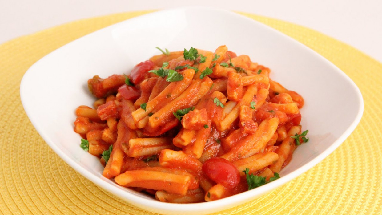 Pasta with Pancetta & Cherry Peppers Recipe - Laura Vitale ...