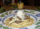 Pasta with Sausage, Fennel & White Truffle Oil