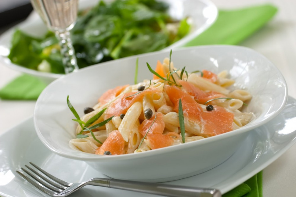 Pasta with Smoked Salmon and Capers recipe | Epicurious