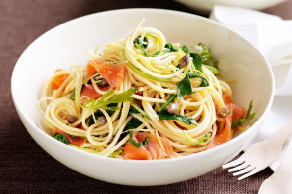 Pasta with Smoked Salmon - Marky's Gourmet Food Blog