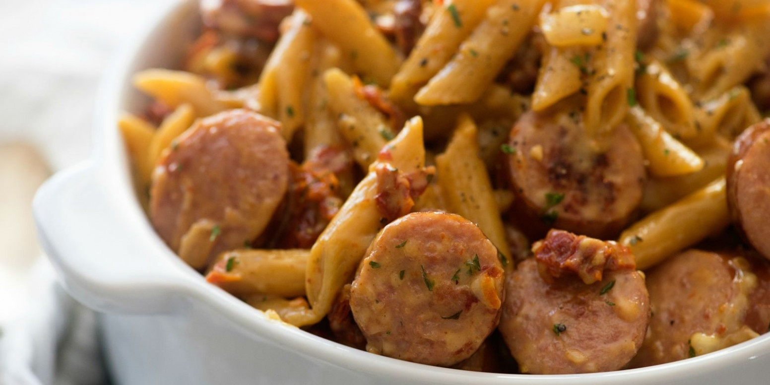 Pasta With White Beans, Tomatoes, And Sausage Recipe ...