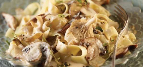 Pasta with Wild Mushroom Sauce | Adams Fairacre Farms