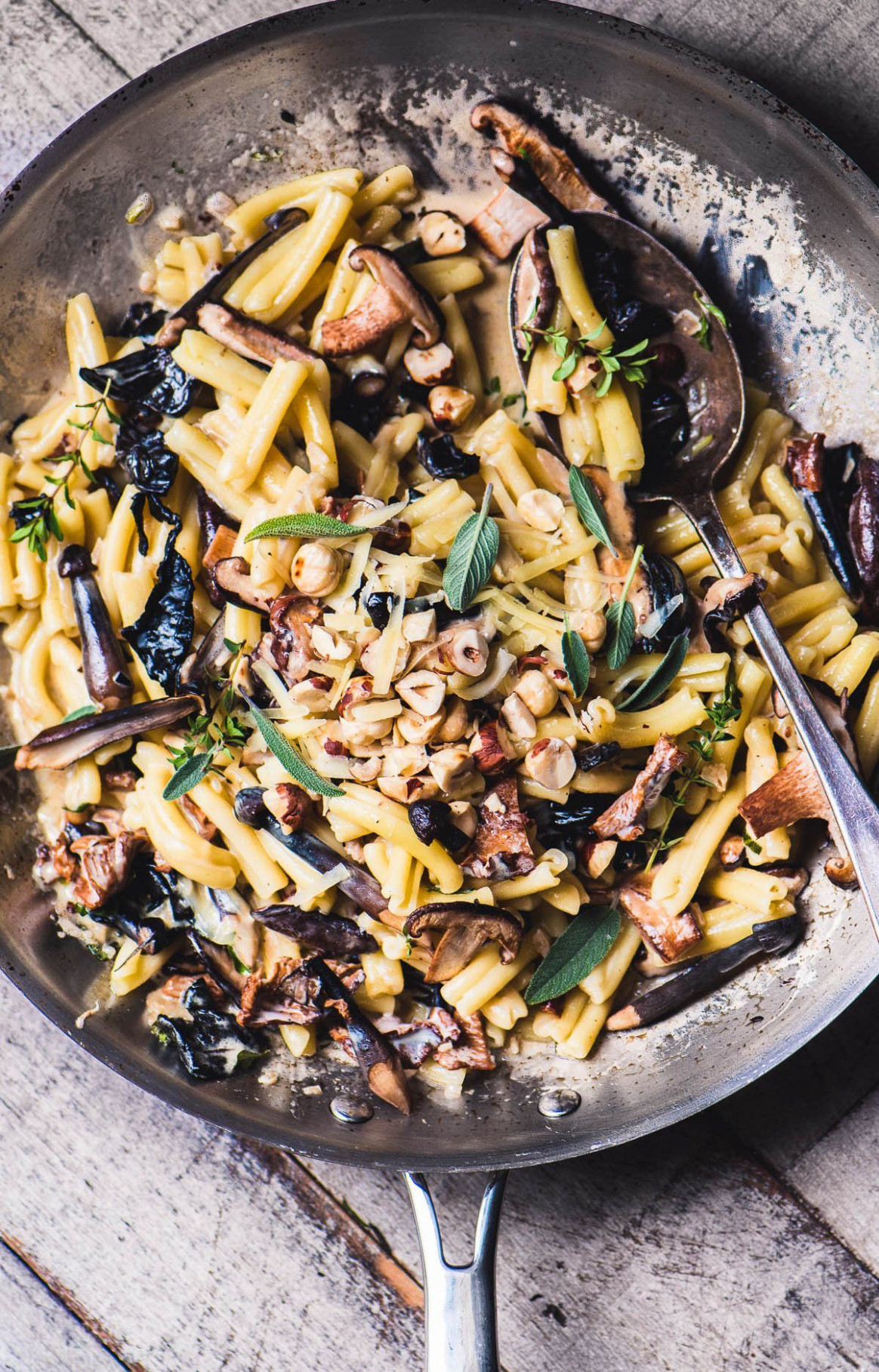 Pasta with Wild Mushrooms and Hazelnuts & Gruyere | Recipe ...