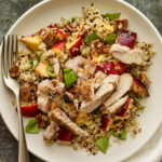 Peachy Quinoa Salad With Grilled Chicken